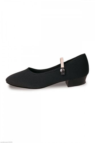 Roch Valley Canvas Character Shoes Low Heel RAD Regulation Wear Suede Sole Black